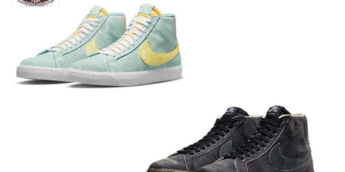 "Nike SB Blazer Mid ""Faded"" DA1839-300&""Faded Black"" DA1839-001 two new colorways on sale"
