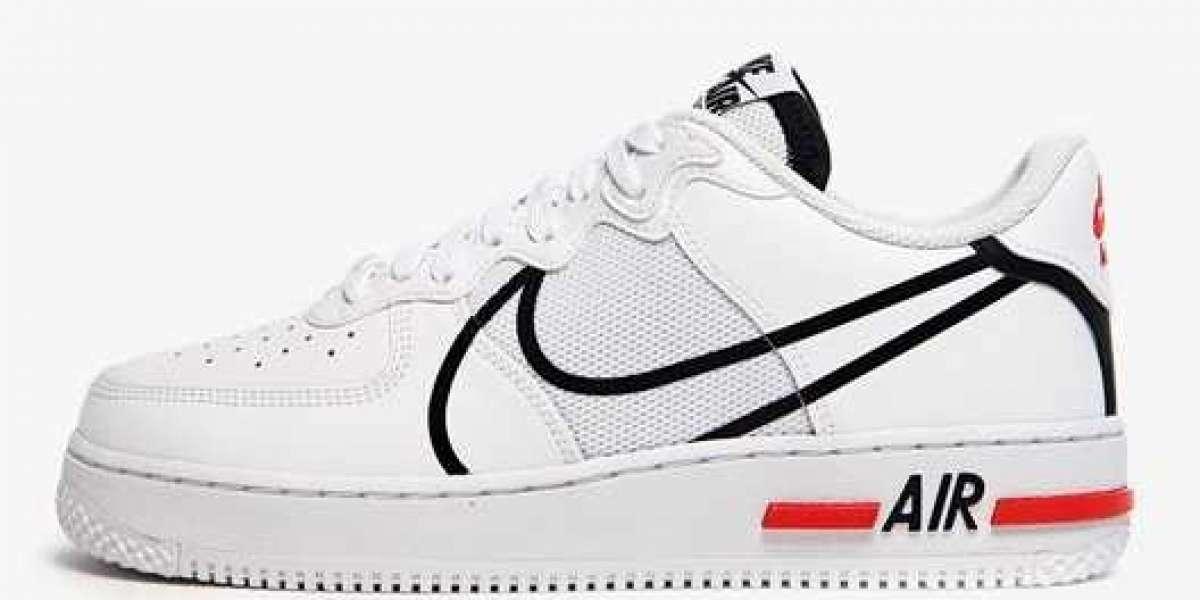 Brand New 2021 Nike Air Force 1 React Sneakers CD4366-100 